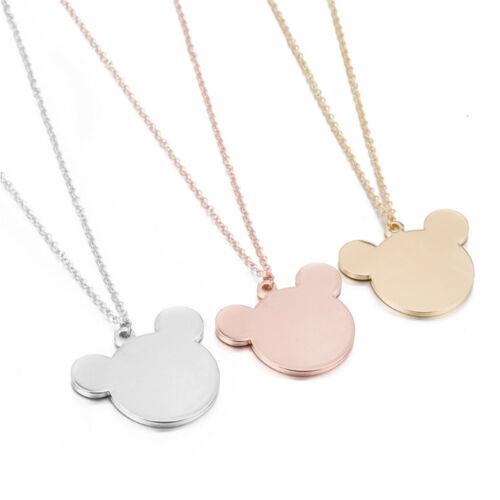 Vêtements femme acier inoxydable acier Mickey pendentif collier charme bijoux