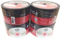 Hp Dvd-r 16x 4.7gb 120min Dvd-r Branded Logo 200pcs 4x50 Pack In Plastic Wrap