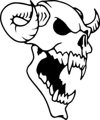 cr//32 Etiqueta engomada de demonio con cuernos Diablo//Coche//Bicicleta//pared//ventana Color /& Talla Elección *