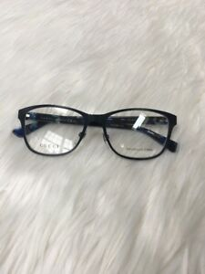 0c795918f13 New GUCCI Eyeglasses Frame GG 4268 HPO Blue Women NOSE PADS Metal ...