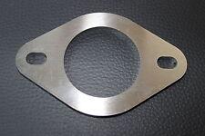 Universal Edelstahl 2-Loch Flansch 53mm Auspuff Kat Reparatur Rohrverbinder Golf