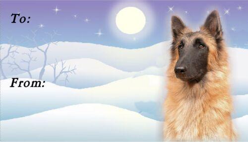 Starprint Belgian Shepherd Tervueren Christmas Labels