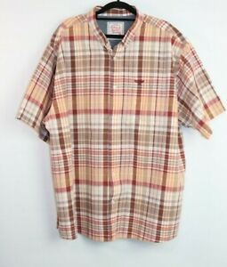Rivers-Men-039-s-Button-Down-Short-Sleeve-Multi-Coloured-Check-Shirt-Size-3XL