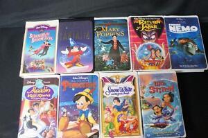 9 Walt Disney Vhs Tapes Lilo Stitch Pinocchio Finding Nemo
