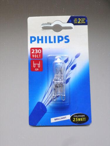 4 x Philips Hochvolt Halogen Halogenlampe Stiftsockellampe G9 25W Watt 25 W