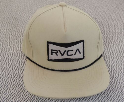 New Rvca Team Sport Director Beige Mens Snapback Hat RHTRVC-455