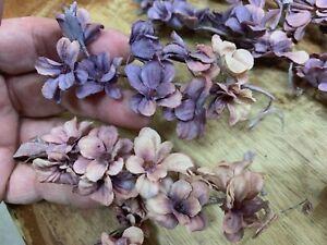 VINTAGE-Mini-LILACS-Cotton-SILK-1pc-flowers-Stems-JAPAN-1940-039-s-Lavender-Pink