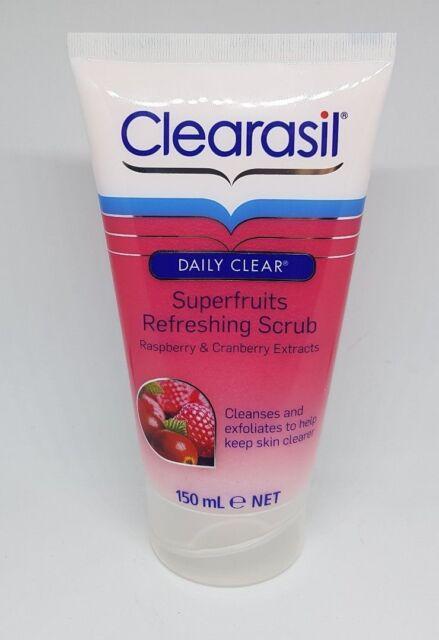 Clearasil Daily Clear Superfruit Face Scrub Exfoliating Deep Pore Treatment 150m
