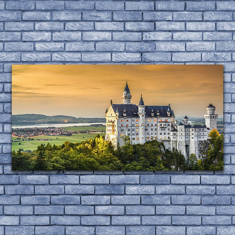 Leinwand-Bilder Wandbild Leinwandbild 140x70 Schloss Landschaft