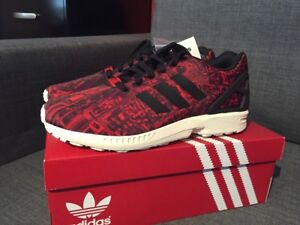 Details about adidas ZX Flux City Pack Moscow Red Mens Size 9 M21775 Limited Edition!