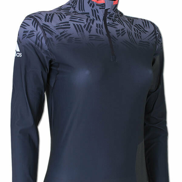 adidas Damen Biathlon Top Light Ski Langlauf Langarm Cross Country Shirt Winter