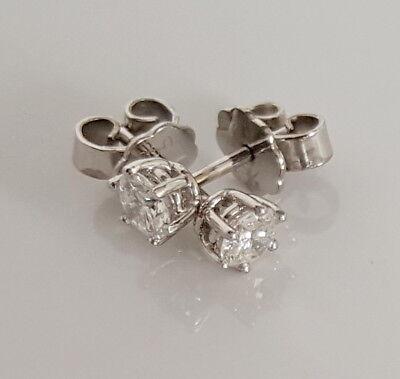 Diamant Brillant Ohrstecker 750 Weißgold 18 Karat Gold 0,40 Ct Solitär Den Menschen In Ihrem TäGlichen Leben Mehr Komfort Bringen