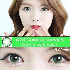 eye color contacts lenses Crazy Halloween Cosmetic Makeup circle lens green K23
