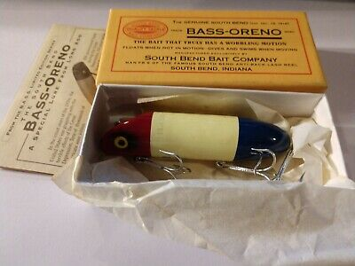Vintage New Old Stock South Bend Trix Oreno Fishing Lure NIPKG 593 CH 1//20 oz