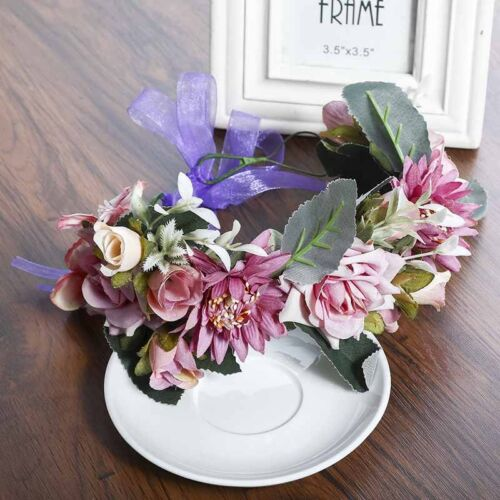 Boho Blume Stirnbänder Krone  Haarkranz Halo Blumengirlande Krone Kopfstück