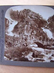 Stereoscope-Stereo-View-Norway-Skarsfos