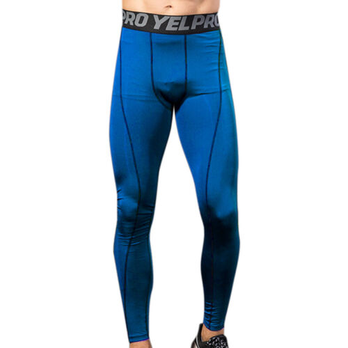 Men Compression Base Layer Leggings Running Sport Gym Pants Stretch Trousers HOT