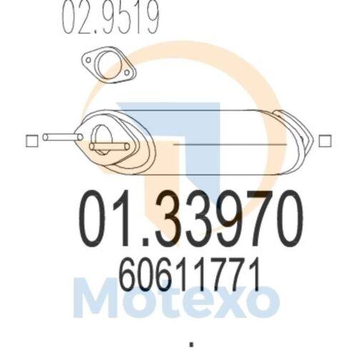 MTS 01.33970 D/'échappement Alfa Romeo GTV 2.0i 16 V Twin Spark 150bhp 05//95