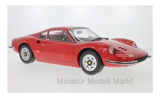 KK-Scale Ferrari Dino  246 GT - red - 1973 - 1 12