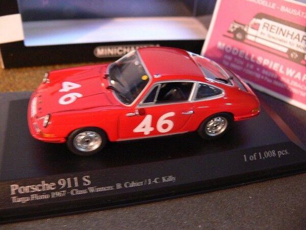 1 43 MINICHAMPS PORSCHE 911 Cahier Killy Targa Fiorio 1967  46 430676746