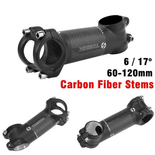 Toseek Bicycle Handlebar Stem Carbon Fibre MTB Road Bike Riser Stem 6 //17 Degree