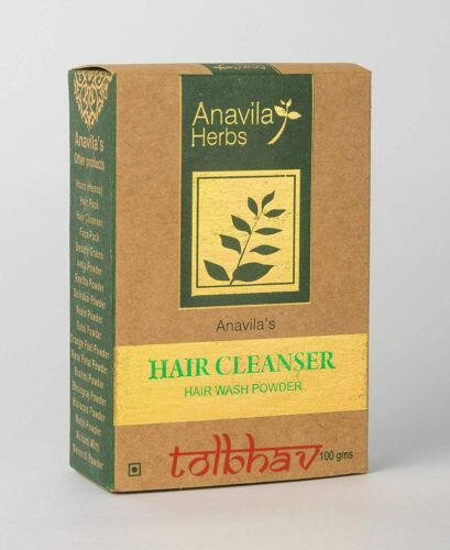 Natural Ayurvedic Herbal Hair Cleanser Hair Wash Powder From India