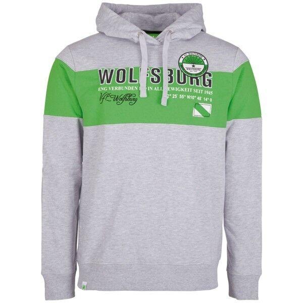 VFL Wolfsburg Sweatshirt , Herren, grau/grün