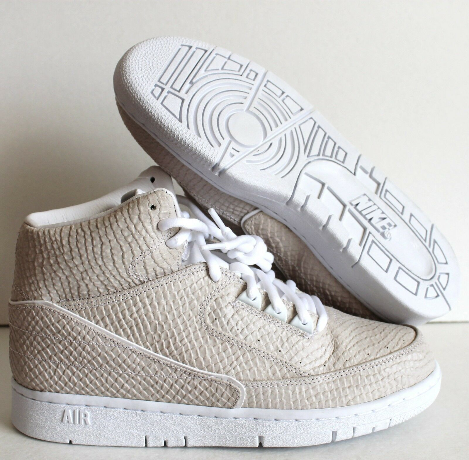 NIKE MEN AIR PYTHON SP SNAKESKIN WHITE SZ 8 [658394-100]