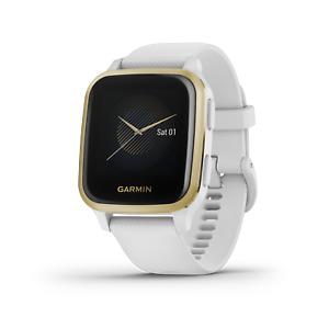 Garmin Venu Sq GPS Fitness Smartwatch White/Light Gold