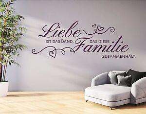Amazing Das Bild Wird Geladen Wandtattoo Wohnzimmer  Wandtatoo Spruch Liebe Ist Das Band