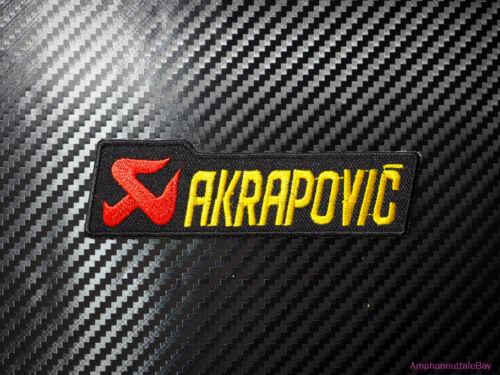 Akrapovic Racing Motor Logo Car Motocycle Embroidered Iron on Patch Badge