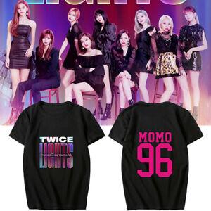 TWICE WORLD TOUR 2019 TWICELIGHTS Concert Summer T-Shirt Tee Tshirt
