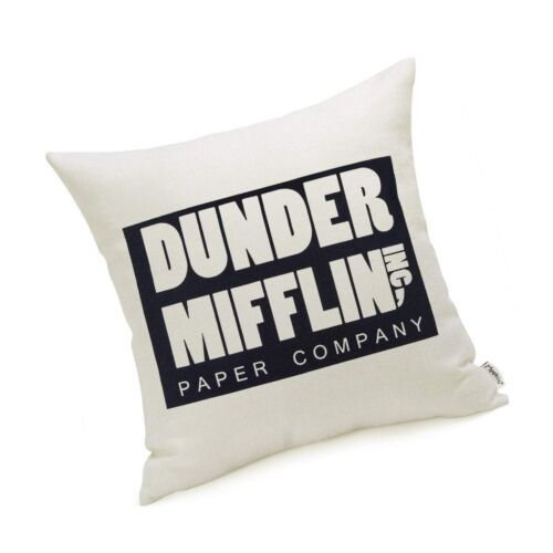 The Office Merchandise Dunder Mifflin Pillow Covers 18 x 18 Inch The Office G...