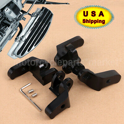 Motor Driver Floorboard Relocation Brackets Kit For Harley Classic EFI FLHTCI