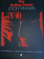 Rolling Stones sticky fingers 2015 Poster los angeles fonda lithograph  zip code
