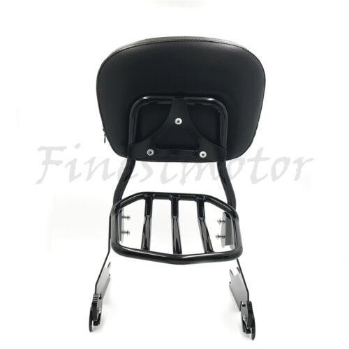 Sissy Bar Backrest Luggage Rack For Harley Davidson Sportster XL883 XL1200 04-17