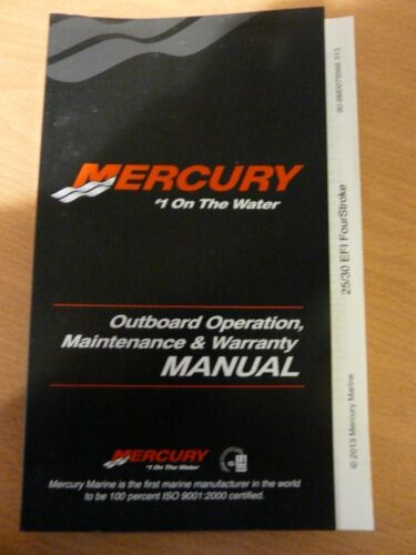 Mercury//Mariner Operation /& Maintenance manual F25EFI /& F30EFI Fourstrokes
