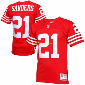 uk availability ed917 0c044 Details about DEION SANDERS San Francisco 49ers MITCHELL & NESS Throwback  PREMIER Jersey S-XXL