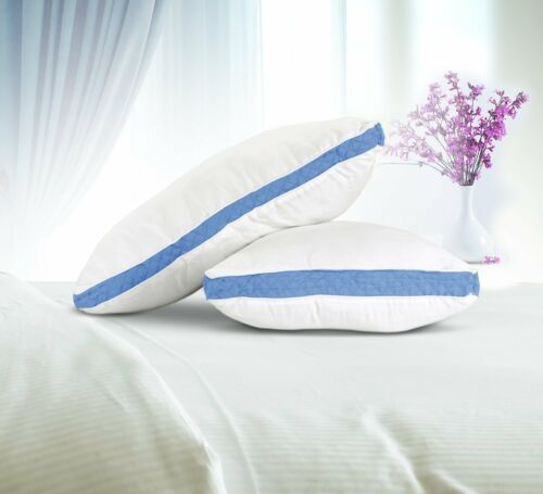 Gusseted Quilted Pillow 18 x 26 Inches Set of 2 Premium Quality King Queen White