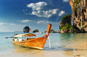 Image Is Loading Framed Print Small Tropical Island Fishing Boat Picture