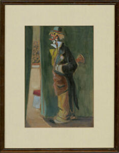 Georges-Tournon-1895-1961-Signed-amp-Framed-Early-20th-Century-Oil-The-Clown
