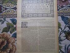 1920 Bauzeitung b5 / Gaswerk Dresden Reick Teil  / Berlin Moabit Markthalle