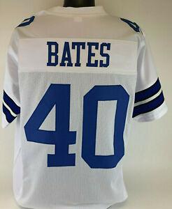 Bill Bates Unsigned Custom Sewn White Football Jersey Size - L, XL, 2XL