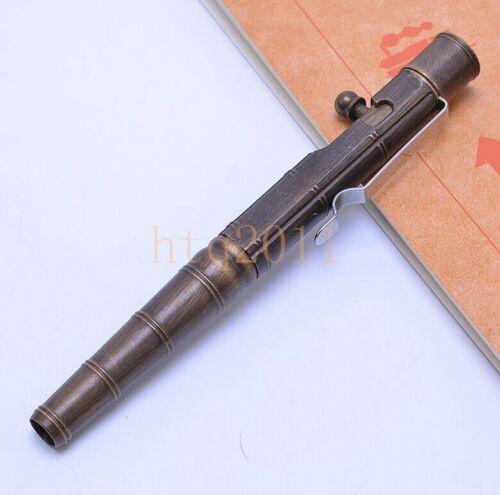 EDC Handmade Brass Packet Pull Bolt Tactical Pen Outdoor Defense Survival Tools