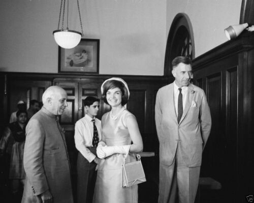 First Lady Jacqueline Kennedy with Indian Prime Minister Nehru New 8x10 Photo