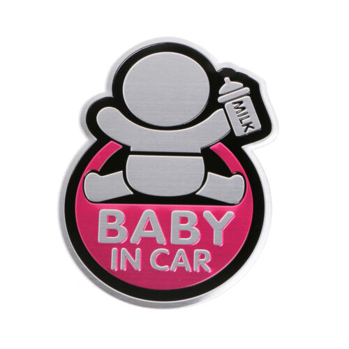 3D Car Window Aluminum Sticker Baby IN CAR Warning Decal Safety Waterproof