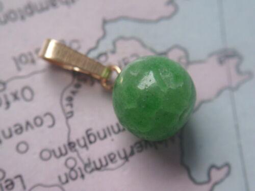 Kettenanhänger Gold 585 mit Smaragd 9,5 mm Smaragd Kugel Anhänger Gold 585