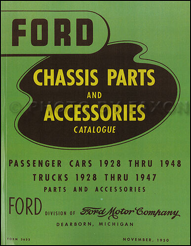 Green Bible Ford Parts Book 1939 1940 1941 1942 1946 1947 Master Chassis Catalog
