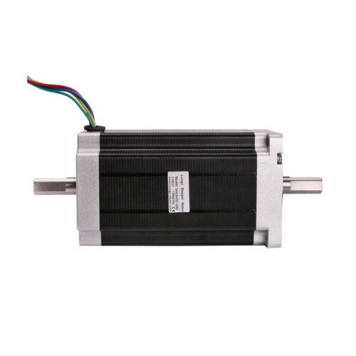 USA FREE 1Axis Nema34 stepper motor 1600oz.in Dual Shaft/&Driver DM860A CNC KIT