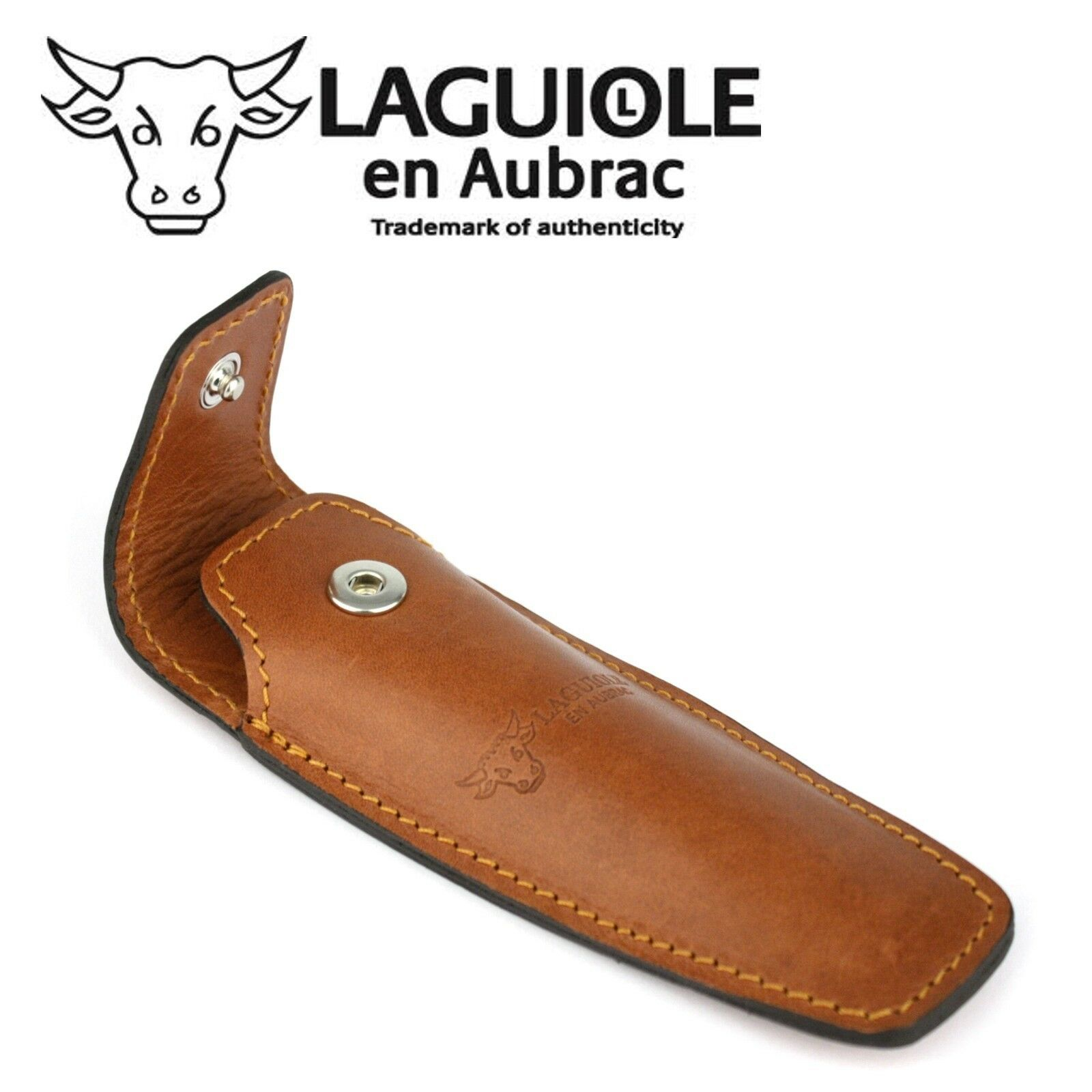 Laguiole en Aubrac ECA Gürteletui braun Leder Taschenmesser Messer Etui Tasche